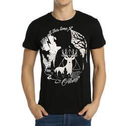Bant Giyim - Bant Giyim - Harry Potter Always Siyah Erkek T-shirt Tişört