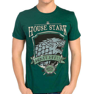 Bant Giyim - Bant Giyim - Game Of Thrones Stark Yeşil Erkek T-shirt Tişört