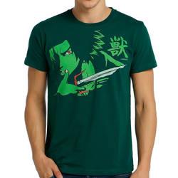 Bant Giyim - Bant Giyim - Samurai Champloo Mugen Yeşil Erkek T-shirt Tişört