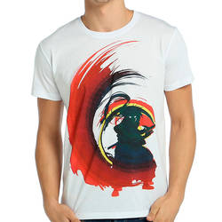 Bant Giyim - Bant Giyim - Rurouni Kenshin Beyaz Erkek T-shirt Tişört