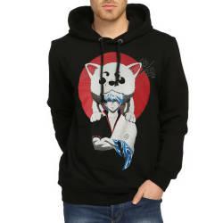 Bant Giyim - Bant Giyim - Gintama Siyah Hoodie