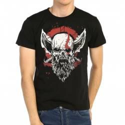 Bant Giyim - Bant Giyim - God of War Kratos Siyah Erkek Tişört