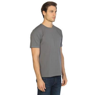 Bant Giyim - Gri Bisiklet Yaka Likralı Erkek T-shirt