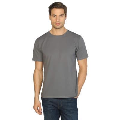 Bant Giyim - Bant Giyim - Gri Bisiklet Yaka Likralı Erkek T-shirt