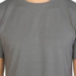Bant Giyim - Gri Bisiklet Yaka Likralı Erkek T-shirt - Thumbnail