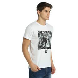 Bant Giyim - Guguk Kuşu Beyaz T-shirt - Thumbnail