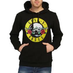 Bant Giyim - Bant Giyim - Guns N' Roses (Style 2) Siyah Hoodie