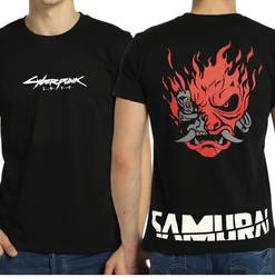 Bant Giyim Cyberpunk 2077 Samurai Siyah Erkek Tişört - Thumbnail