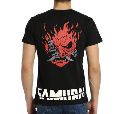 Bant Giyim Cyberpunk 2077 Samurai Siyah Erkek Tişört