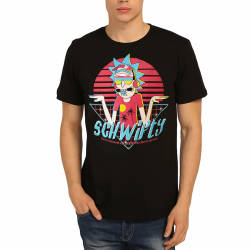 Bant Giyim - Bant Giyim - Rick & Morty Schwifty Siyah T-shirt