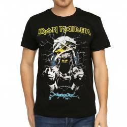 Bant Giyim - Bant Giyim - Iron Maiden Powerslave Siyah Erkek Tişört