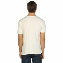 Bant Giyim - Krem Bisiklet Yaka Likralı Erkek T-shirt - Thumbnail