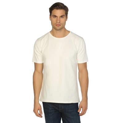Bant Giyim - Bant Giyim - Krem Bisiklet Yaka Likralı Erkek T-shirt