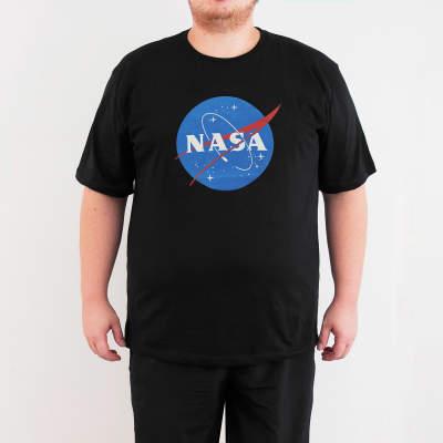 Bant Giyim - NASA 4XL Siyah T-shirt