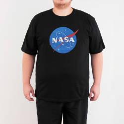 Bant Giyim - NASA 4XL Siyah T-shirt - Thumbnail