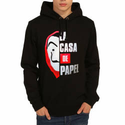Bant Giyim - Bant Giyim - La Casa De Papel Siyah Hoodie