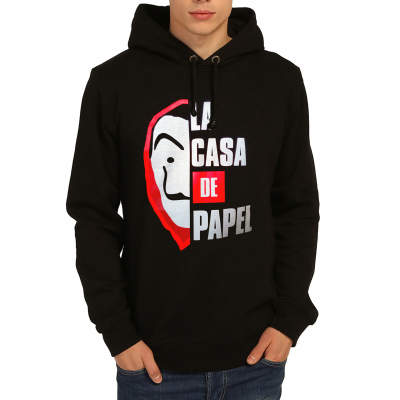 Bant Giyim - La Casa De Papel Siyah Hoodie