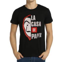 Bant Giyim - Bant Giyim - La Casa De Papel Siyah T-shirt