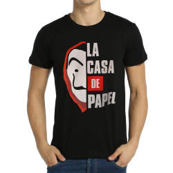 Bant Giyim - La Casa De Papel Siyah T-shirt - Thumbnail