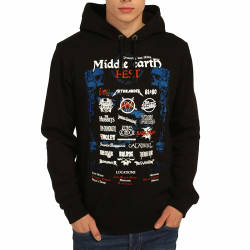 Bant Giyim - Lord Of The Rings Middle Earth Siyah Hoodie - Thumbnail