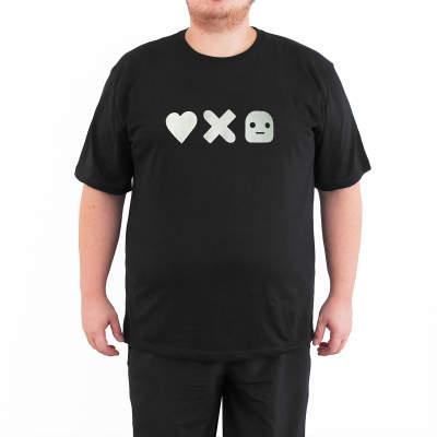 Bant Giyim - Love Death & Robots 4XL Siyah T-shirt