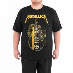 Bant Giyim - Metallica Gitar 4XL Siyah T-shirt - Thumbnail
