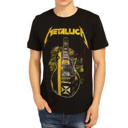 Bant Giyim - Bant Giyim - Metallica Gitar Siyah T-shirt