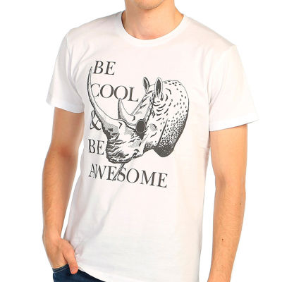 Bant Giyim - Be Cool Beyaz T-shirt