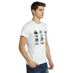 Bant Giyim - Motosiklet Have Them All Beyaz T-shirt - Thumbnail