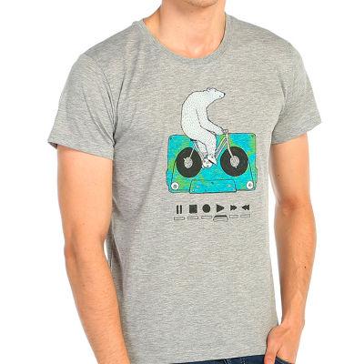 Bant Giyim - Work Hard Play Hard Gri T-shirt