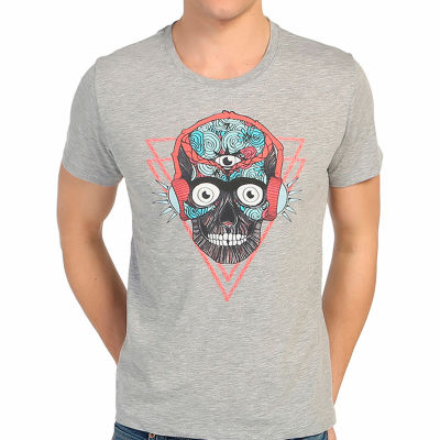 Bant Giyim - Stereo Skull Gri T-shirt