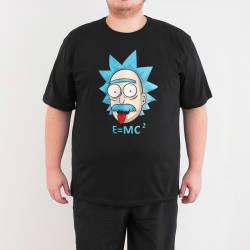 Bant Giyim - Rick and Morty Einstein 4XL Siyah T-shirt - Thumbnail