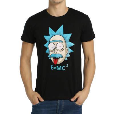 Bant Giyim - Bant Giyim - Rick and Morty Einstein Siyah T-shirt