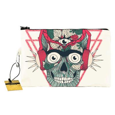 Bant Giyim - Stereo Skull Cüzdan