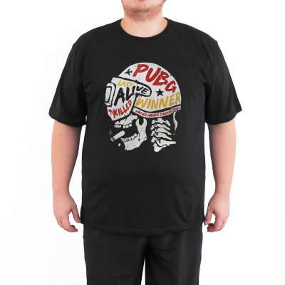 Bant Giyim - PUBG Kask 4XL Siyah T-shirt