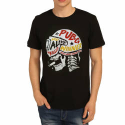 Bant Giyim - Bant Giyim - PUBG Kask Siyah T-shirt