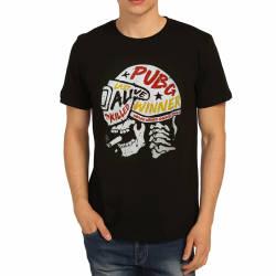 Bant Giyim - PUBG Kask Siyah T-shirt - Thumbnail