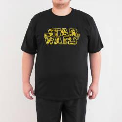 Bant Giyim - Star Wars 4XL Siyah T-shirt - Thumbnail