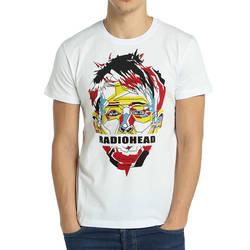 Bant Giyim - Bant Giyim Radiohead Thom Yorke Beyaz Erkek T-shirt Tişört