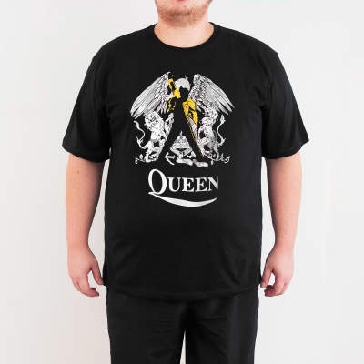 Bant Giyim - Queen Freddie Mercury 4XL Siyah T-shirt