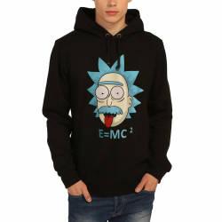 Bant Giyim - Bant Giyim - Rick and Morty Einstein Siyah Hoodie