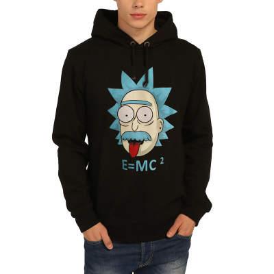 Bant Giyim - Rick and Morty Einstein Siyah Hoodie