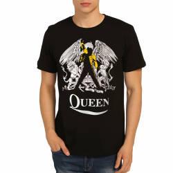 Bant Giyim - Bant Giyim - Queen Freddie Mercury Siyah T-shirt