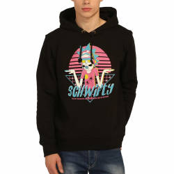 Bant Giyim - Bant Giyim - Rick & Morty Schwifty Siyah Hoodie
