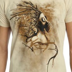 Bant Giyim - Root n' Smoke Krem T-shirt - Thumbnail