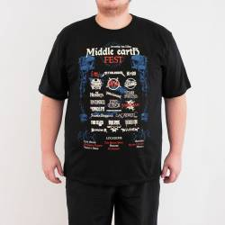 Bant Giyim - Lord Of The Rings Middle Earth 4XL Siyah T-shirt - Thumbnail