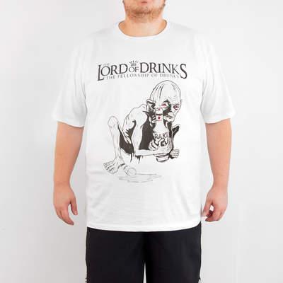 Bant Giyim - Bant Giyim - Lord Of The Rings 4XL Büyük Beden Beyaz Erkek Tişört