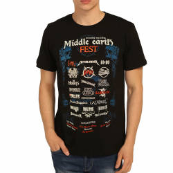 Bant Giyim - Bant Giyim - Lord Of The Rings Middle Earth Siyah T-shirt