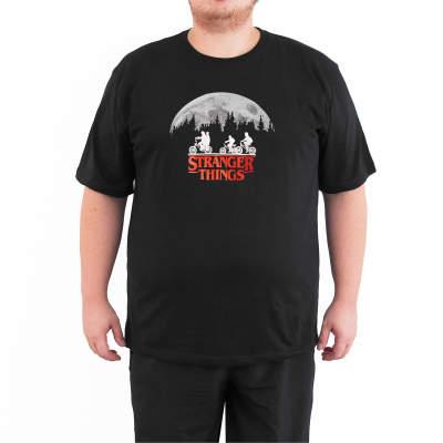 Bant Giyim - Stranger Things 4XL Siyah T-shirt