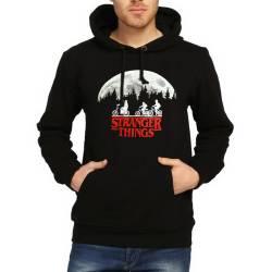 Bant Giyim - Bant Giyim - Stranger Things Siyah Hoodie